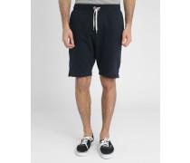 Marineblaue Molton-Shorts Loose