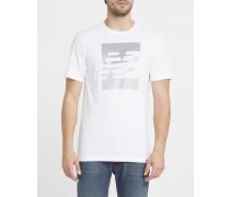 Weißes T-Shirt Split Sport Style