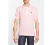 Rosafarbenes Polo-Shirt kurzärmlig Baumwolle 12.12 Original