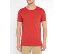 Rotes T-Shirt Pocket
