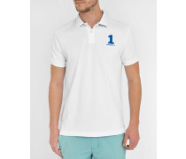 Weißes Poloshirt Classic Number