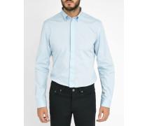 Himmelblaues Slim-Hemd mit kleinem Kragen Nap
