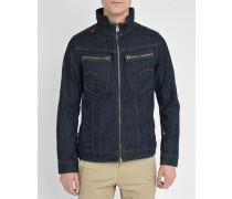 Dunkelblaue Jeansjacke mit Reißverschluss Arc Zip 3D Slim Jacket