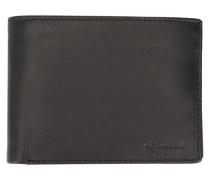 Portemonnaie aus schwarzem Leder Gary