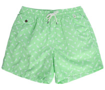 Badehose Print All Over Oasis Green