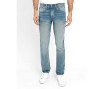Verwaschene hellblaue Slim Jeans 511