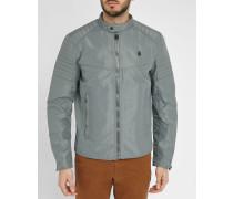 Graue Nylon-Jacke Schultern in Biker-Stil Attac GP Jacket