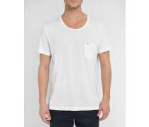 Weißes T-Shirt mit Rundhalsausschnitt und Logo T-Kronox