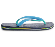 Marineblaue und türkisblaue Flip-Flops Brasil Mix