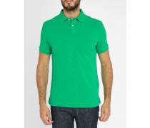 Grünes Slim-Poloshirt Dye