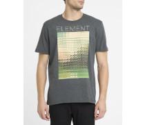 Graues T-Shirt Refract mit Aufdruck