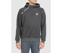 Graues Kapuzensweatshirt mit Reißverschluss an der Schulter Core Zip