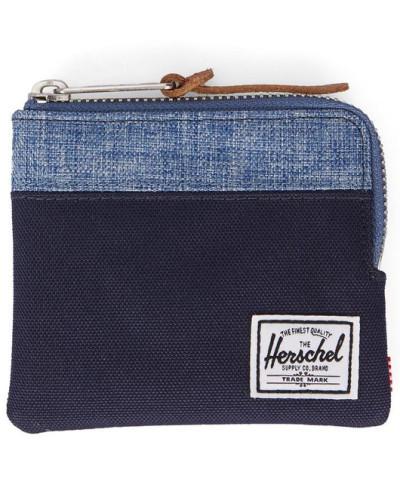 herschel supply co herren portemonnaie johnny in marineblau und blau reduziert. Black Bedroom Furniture Sets. Home Design Ideas