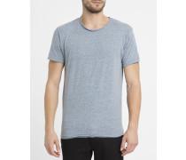 Grau meliertes Vintage-T-Shirt mit Rundhalsausschnitt 1003