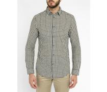 White and Black Check Chains Slim-Fit Shirt