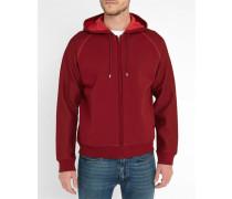 Rotes Kapuzen-Sweatshirt mit Reißverschluss Pr