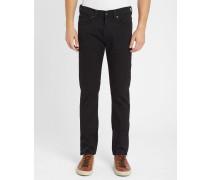 Schwarze Slim Jeans ED-80 aus Stretch-Stoff