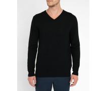 Schwarzer Pullover Hauk mit V-Ausschnitt Pr