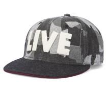 Mütze in schwarzem Tarnmuster mit schwarzem Schirm Pr
