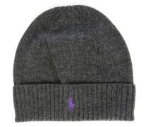 Mütze aus Merinowolle Ribbed Grau