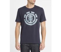 Blaues T-Shirt mit Sunny-Logo