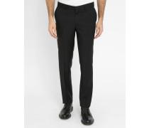 Schwarze Slim-Anzughose