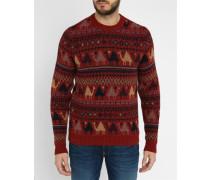 Roter Pullover Fantasy Dromedar