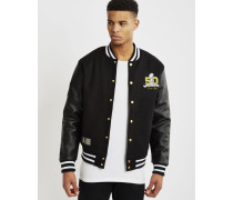 Athletic Collectors Edition Patch 50 Letterman Jacket Black