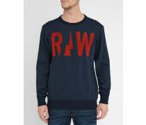 Marineblaues Sweatshirt Raw mit Rundhalsausschnitt Grount R SW