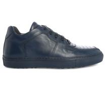 Sneaker Edition 11 aus einfarbig blauem Leder