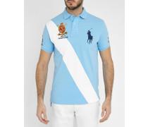 Himmelblaues Poloshirt Summer Classic Stripe