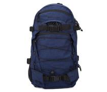 Gestreifter Flanell-Rucksack New Louis 20 L in Marineblau
