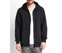 Schwarzes Sweatshirt mit Reißverschluss Scott
