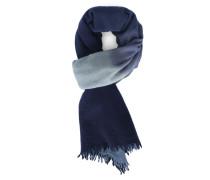Wollschal aus Kaschmir mit Sparrenmuster Tie and Dye in Blau