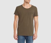 Grünes T-Shirt mit Rundhalsausschnitt und Tasche Bradley