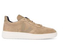 Kamelbraune Sneaker V10 in Veloursleder