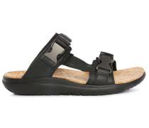 Schwarze Terra Float Slide Leather