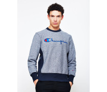 Rib Marl Crew Neck Sweatshirt Navy