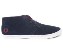 Marineblaue Veloursleder-Sneaker Byron Mid
