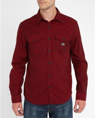 ralph lauren herren rot schwarz kariertes hemd 30 reduziert. Black Bedroom Furniture Sets. Home Design Ideas