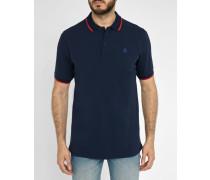 Navyblaues Poloshirt Pierre mit rotem Streifen