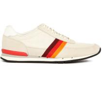Weiße Sneakers Swanson aus Veloursleder und Mesh