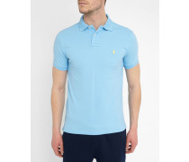 Poloshirt Slim Fit hellblau