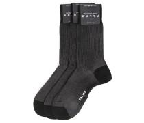 3er-Pack schwarze Socken FINE SHADOW
