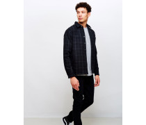 Labour 4 Pocket Wool Flannel Check Shirt Black/White