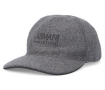 Graues Basecap aus Wolle mit Armani-Logo