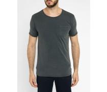 Ausgewaschen schwarzes T-Shirt Pocket