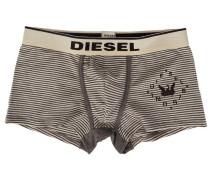 Weiß und grau gestreifte Boxershorts Dirck mit -Logo