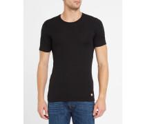 Anthrazitfarbenes T-Shirt aus Baumwolle und Wolle
