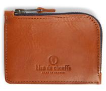 Braunes Leder-Portemonnaie AS mit Reißverschluss